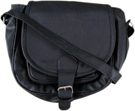 MADASH Girls Black PU Sling Bag