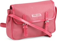 Donna & Drew Women Pink Artificial Leather Sling Bag