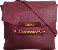 Toteteca Bag Works Women Casual Maroon Genuine Leather Sling Bag
