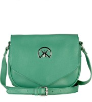 Khiora Women Formal, Casual, Evening/Party Green Genuine Leather Sling Bag