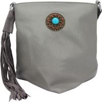 The Peacock Craft Women Grey PU Sling Bag - SLBEHTBZF6NS2MSK