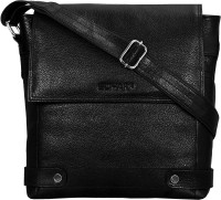Scharf Men, Women Casual, Formal Black Genuine Leather Sling Bag