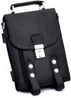 Leathers18 Men Black Leatherette Hand-held Bag
