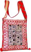 Villcart Hand Block Print Sling Bag - Red - SLBDX9X5PZHHSN5Z