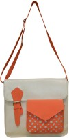 Spice Art Girls Casual White Leatherette Sling Bag