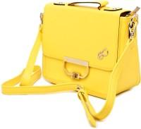 E2O Women Casual Yellow Leatherette Sling Bag