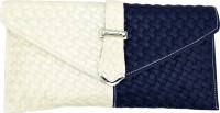 Goglamour Women, Girls Casual Blue, White Leatherette Sling Bag