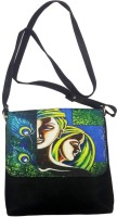 Bhamini Digital Print - Style 3 Medium Sling Bag (Black-01)