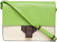 DressBerry Women Casual Green Leatherette Sling Bag