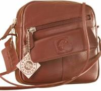 EZeeBags Girls, Women Maroon Genuine Leather Sling Bag