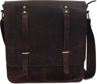 Urban Forest Men Casual Brown Genuine Leather Sling Bag