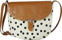 Lychee Bags Women White, Black Canvas Sling Bag