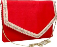 Hi Look Women Casual Red Polyester Sling Bag