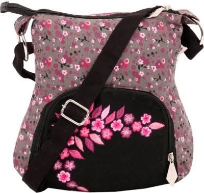 Pick Pocket Women Casual Grey Canvas Sling Bag