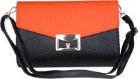 Just Women Envelope Shaped Large Sling Bag - Orange