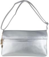 Heels & Handles Women Casual Silver Leatherette Sling Bag