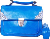 Feliza Girls Casual Blue Leatherette Sling Bag