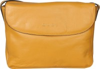 Hunt Women Casual Yellow Genuine Leather Sling Bag