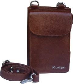 Kudos Girls, Women Casual Tan Genuine Leather Sling Bag