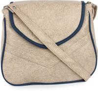 Star Style Women Casual Beige Leatherette Sling Bag