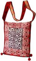 Villcart Hand Block Print Sling Bag - Red