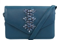 Toteteca Bag Works Women Casual Blue Faux Leather Sling Bag