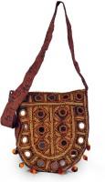 Little India Hand Embroidery Kutch Art Mirror Work 151 Medium Sling Bag (Multicolor)