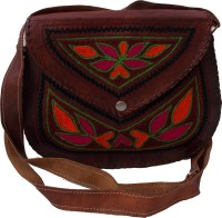 Shiny Collection Girls, Women Brown Genuine Leather Sling Bag