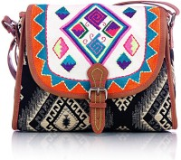 Shaun Design Embroidered Jacquard Cross Body Small Sling Bag - SLBDX5HKVPZTEQGC