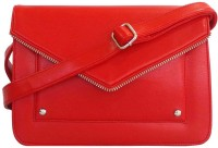 Toteteca Bag Works Women Red Leatherette Sling Bag