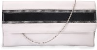 Contrast Stylish Bead Contrast Sling Bag - White-09