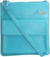 Toteteca Bag Works Women Casual Blue Leatherette Sling Bag