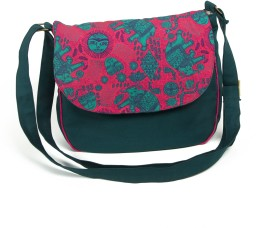 Mad(e) In India Women Casual Green Canvas Sling Bag