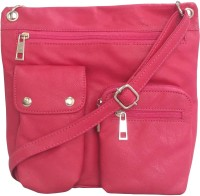 Toteteca Bag Works Women Pink Leatherette Sling Bag