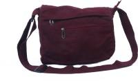 Kunal Men, Women Maroon Cotton, Polyester Sling Bag