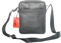 Urban Gypsy Men, Women Casual Black Genuine Leather Sling Bag