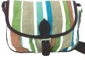 Carry On Bags French Vintage Look Stripes Small Sling Bag - Brown, Teal Green