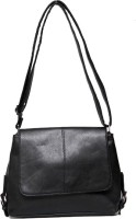 Borse Women Casual Black PU Sling Bag