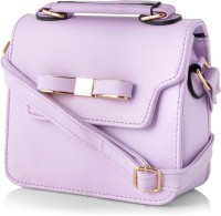 Eyes Language Girls Casual Purple Genuine Leather Sling Bag