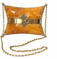 Modish Look Women, Girls Festive Yellow, Gold Acrylic Sling Bag