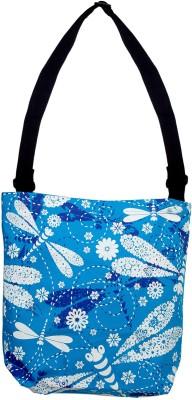 Kanvas Katha Women Casual Blue Canvas Sling Bag available at Flipkart for Rs.299