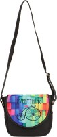 Lavaya Women Casual Multicolor Canvas, PU Sling Bag