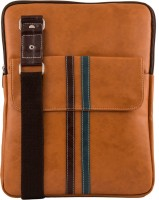 Unixx Men Casual Tan, Brown, Blue Genuine Leather Sling Bag