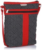 Home Heart Hipster Medium Sling Bag - Black, Red