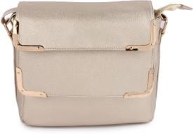 Kleio Girls, Women Gold PU Sling Bag