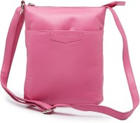 DaSuccesso Women Casual Pink Genuine Leather Sling Bag