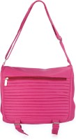 Frosty Fashion Women Casual Pink PU Sling Bag