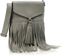 Phive Rivers Genuine Leather : Nora_pr342-A Medium Sling Bag - Grey
