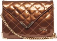 Kiara Women Evening/Party Brown Leatherette Sling Bag