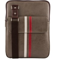 Unixx Men Casual Grey, White, Red Genuine Leather Sling Bag